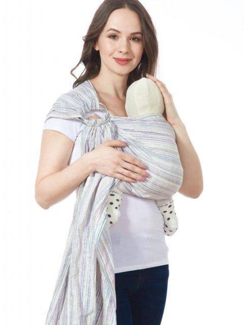 Слинг для новорожденных с кольцами «Лайн», грэйп