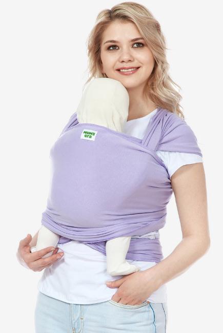 Трикотажный слинг-шарф для новорожденных, «Берри», ягодный