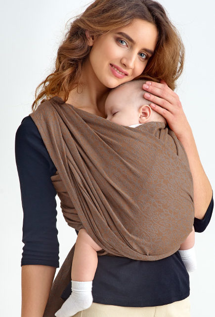 Слинг-шарф с рождения Diva Basico Canela