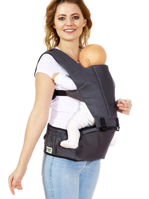 Хипсит-рюкзак «Combi», антрацит, с 6 месяцев