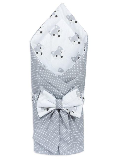 Конверт-одеяло на выписку «Bambino» серый горох/лиса, лето