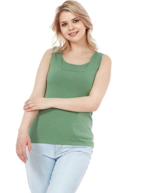 Майка для беременных и кормящих Кристи, оливковый