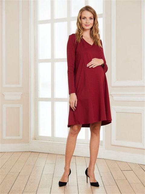 Платье для беременных и кормящих мам Perfect, ягодный
