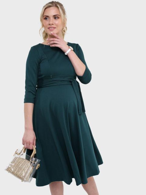 Платье для беременных и кормящих Талия, темно-зеленый