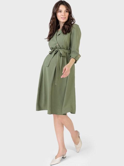 Платье для беременных и кормящих Валерия, оливковый