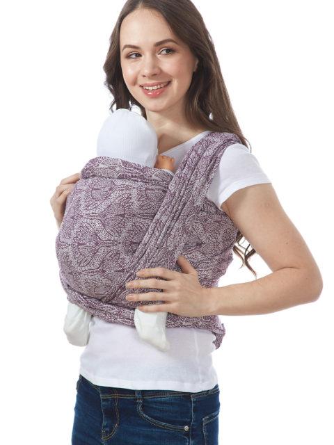 Слинг-шарф «Флорал», long, бордо