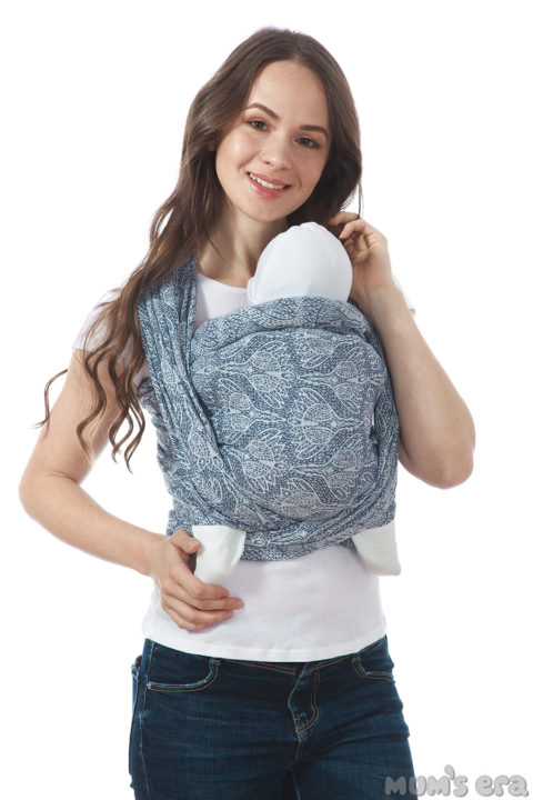 Слинг-шарф «Флорал», long, нэви