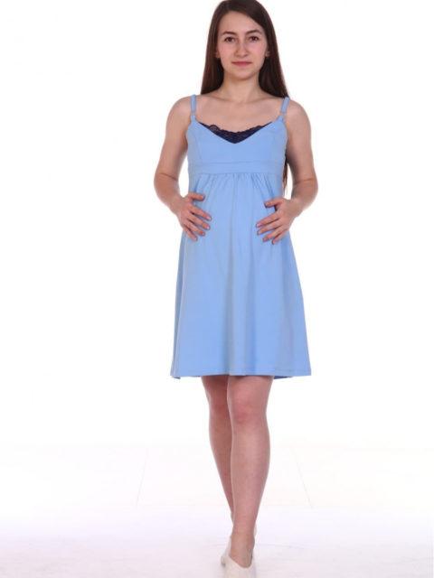 Сорочка для беременных и кормящих Карина, голубой