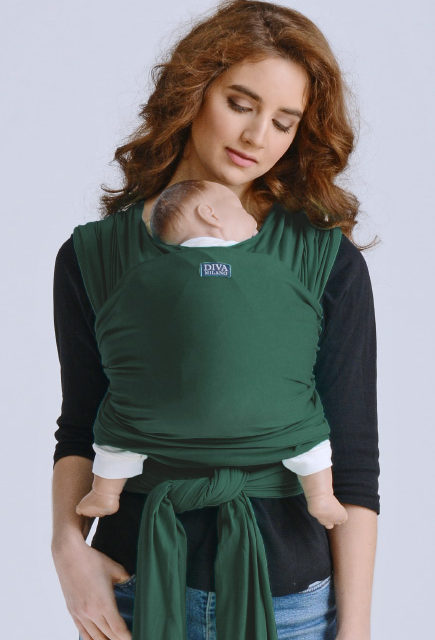 Слинг-шарф трикотажный для новорожденных Diva Stretchy Pino