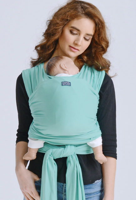 Слинг-шарф трикотажный для новорожденных Diva Stretchy Tiffani
