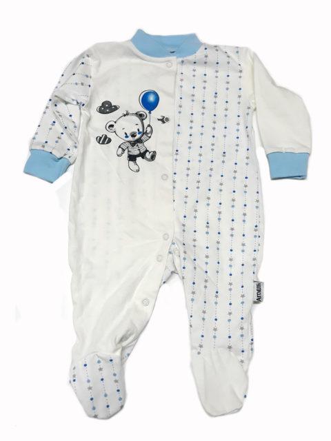 Комбинезон для новорожденных Amelli КЛ.310.005.0.035.012 Мишка на шаре/голубой