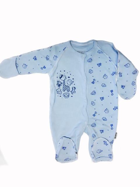 Комбинезон-слип для новорожденных Amelli Комбинезон-слип для новорожденных Amelli КЛ.310.009.0.134.011 Ёжики, голубой
