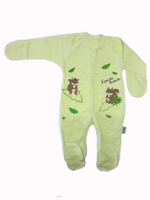 Комбинезон-слип для новорожденных Amelli Комбинезон-слип для новорожденных Amelli КЛ.310.009.0.120.011/012 Крошка белочка салатовый/коричневый