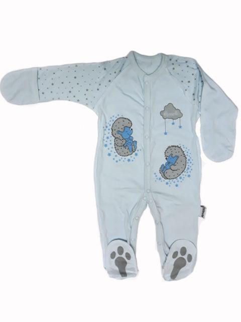 Комбинезон-слип для новорожденных Amelli КЛ.310.009.0.134.011 Ёжики, голубой