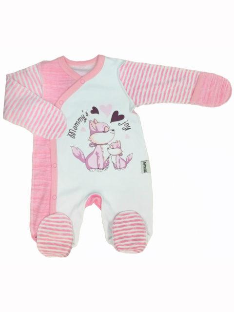 Комбинезон-слип для новорожденных Amelli КЛ.310.009.0.120.011/012 Крошка белочка салатовый/коричневый