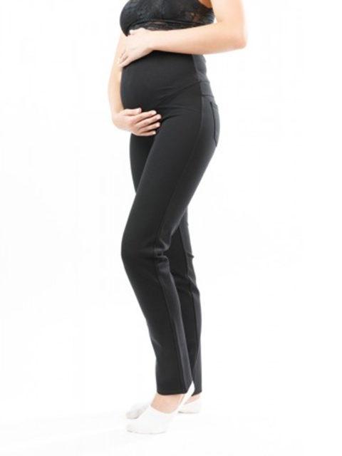 Брюки для беременных прямые БР-535 демисезонные, черный