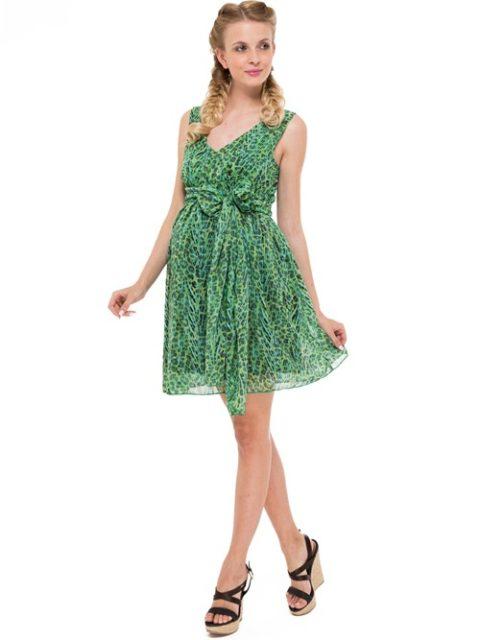 Сарафан для беременных Либерти, зеленый