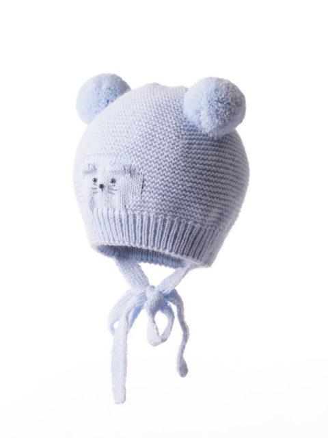 """Шапка детская, без подкладки (от +15 до +5) """"Мышонок"""", голубой"""