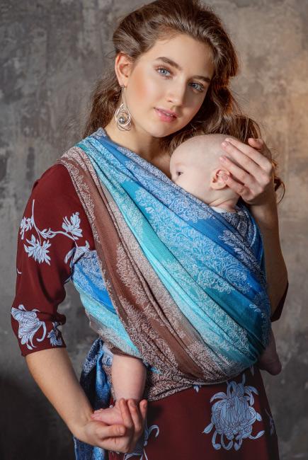 Слинг-шарф для новорожденных Diva Essenza Oceano