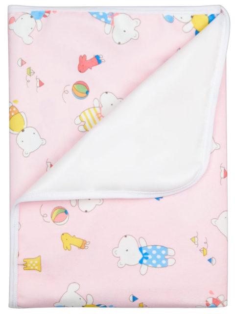 Пелёнка непромокаемая из ультрасофта, для кроватки 60х90 см., светло-розовый