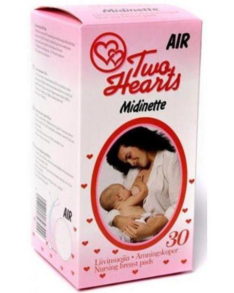 Прокладки в бюстгальтер Midinette, для кормящих матерей впитывающие, 30 шт., одноразовые
