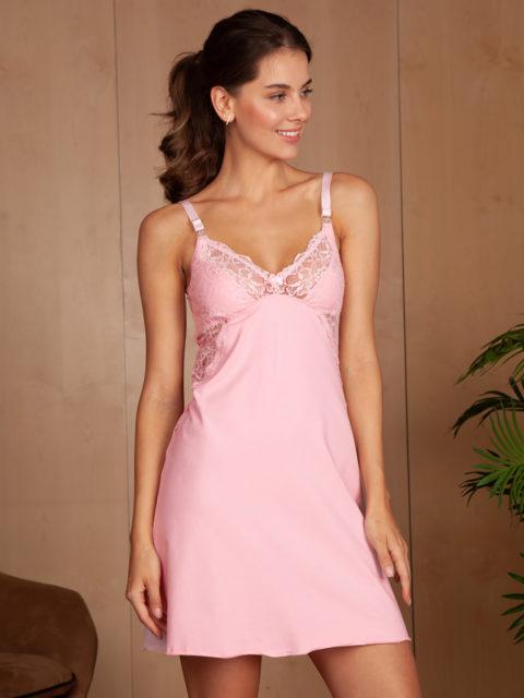 Сорочка для беременных и кормящих Izabel, розовый