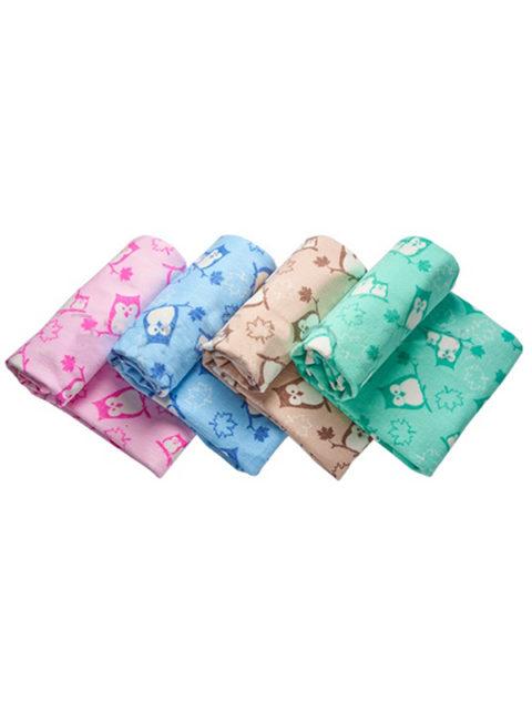 """Одеяло байковое для новорожденных """"Совы"""" размер 98х138 см."""
