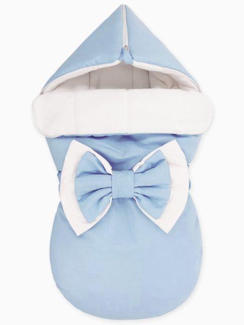 """Зимний конверт для новорожденных на выписку """"NewBorn Blue"""""""
