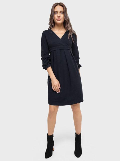 Платье для беременных и кормящих Эрмина, синий (хлопок 70%)