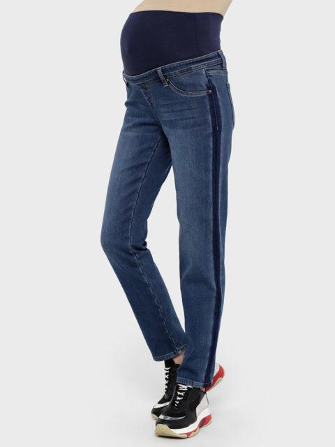 """Утепленные прямые джинсы для беременных """"Стайл 081"""", деним"""