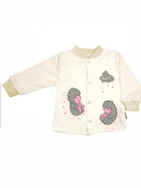 Кофточка для новорожденных Amelli KЛ134.011 Ежики розовый/бежевый