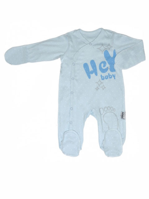 Комбинезон-слип для новорожденных Amelli Hey babe, молочный