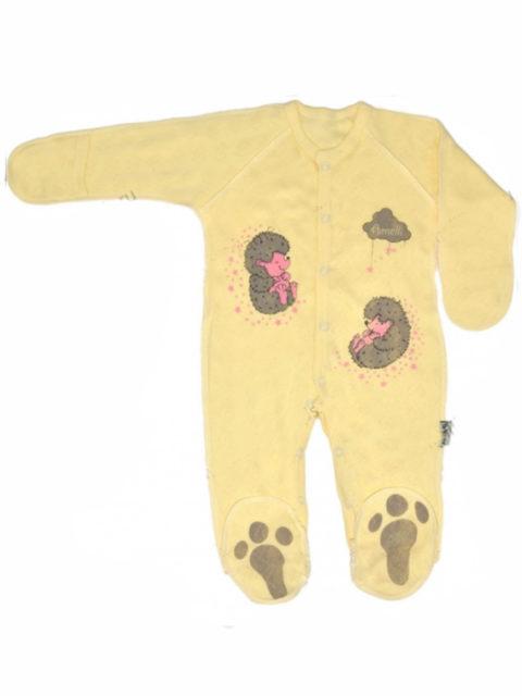 Комбинезон-слип для новорожденных 310.009.0.134.011/012 Ёжики желтый