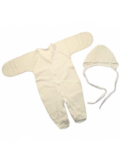 Комплект одежды на выписку для новорожденных Нежность, молочный