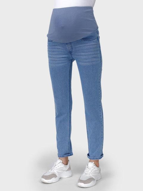Джинсы для беременных прямые Стайл-036, голубой. Магазин одежды для беременных Мамаплюс СПб