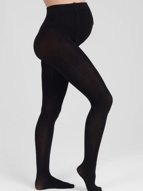 Колготки для беременных мультифибра 150 den, с махровым верхом и носком, черный. Магазин одежды для беременных