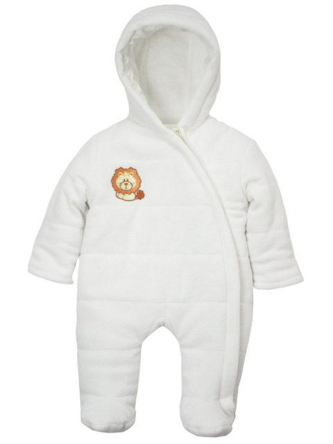 Комбинезон для новорожденных Львенок 404/17 молочный. Одежда для новорожденных