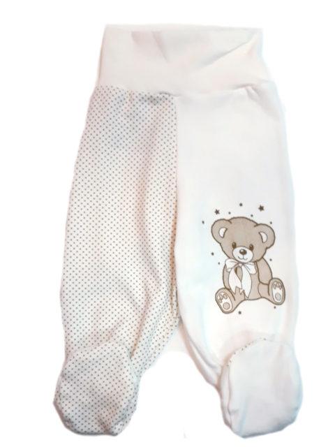 Ползунки для новорожденных Amelli Мишка молочный. Одежда для новорожденных