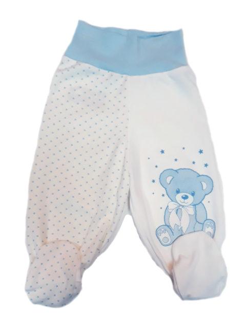 Ползунки для новорожденных Amelli Мишка молочный/голубой. Одежда для новорожденных