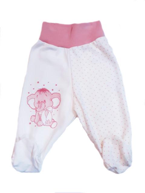 Ползунки для новорожденных Amelli Слоник розовый. Одежда для новорожденных