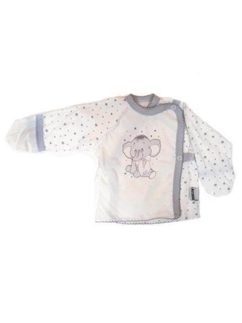 Распашонка для новорожденных Amelli КЛ.110.005.0.027.012 Слоник звездочки/серый. Одежда для новорожденных