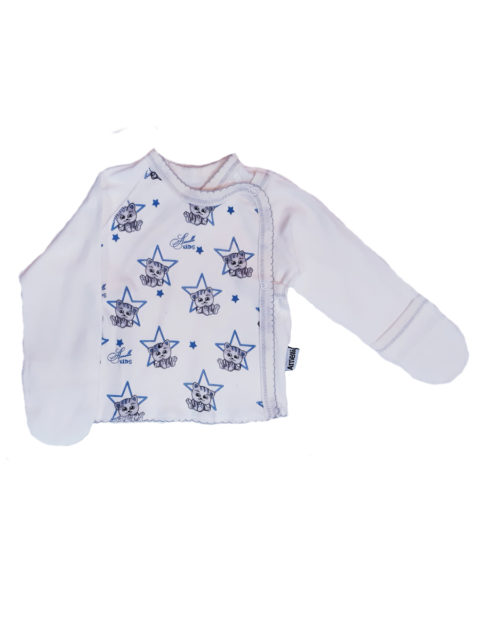 Распашонка для новорожденных Amelli КЛ.110.005.0.104.005 Звезды/котики. Одежда для новорожденных