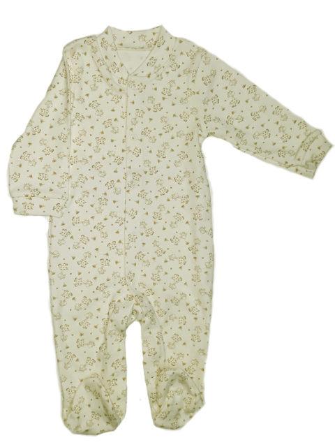 Слип для новорожденных 105/1 молочный, веселые жирафы Одежда для новорожденных