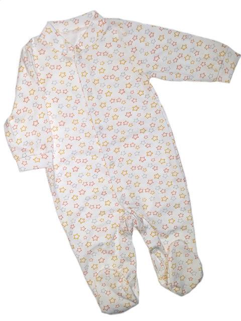 Слип для новорожденных 105/1 молочный/звездочки. Одежда для новорожденных