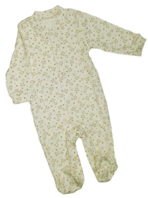 Слип для новорожденных Карусель, 105/2 жирафы, молочный. Одежда для новорожденных