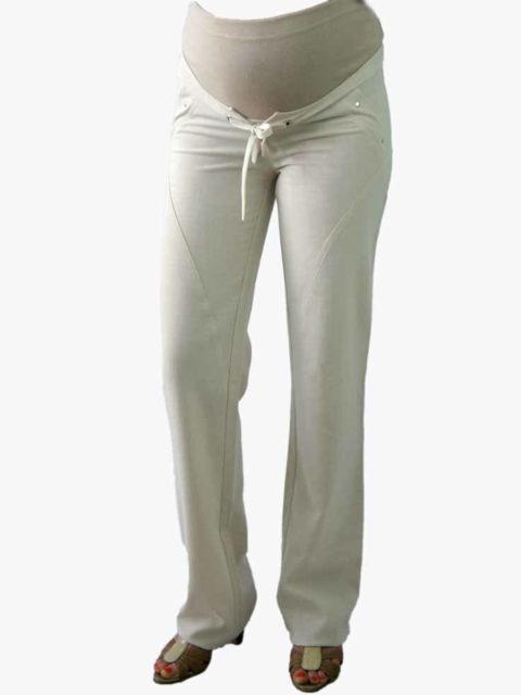 Летние брюки для беременных прямые Эшли, светло-серый