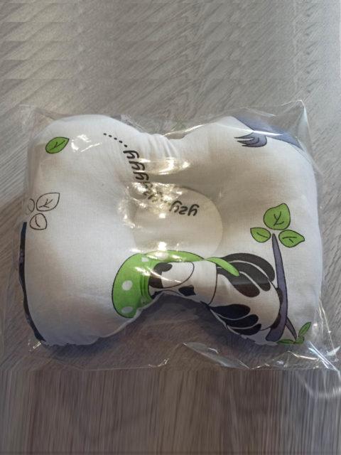 Анатомическая подушка для новорожденных Белый/совы 0+