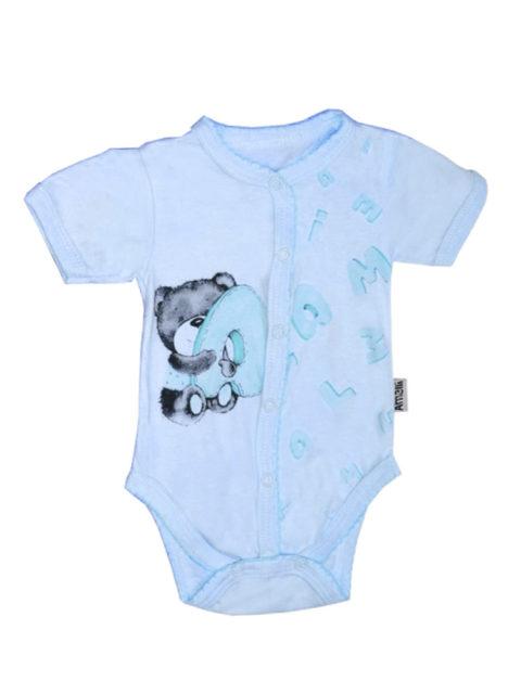 Боди для новорожденных Алфавит, голубой