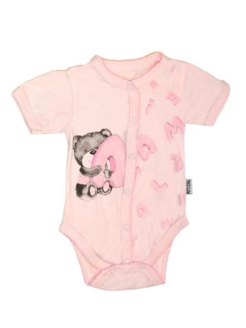 Боди для новорожденных Алфавит, розовый