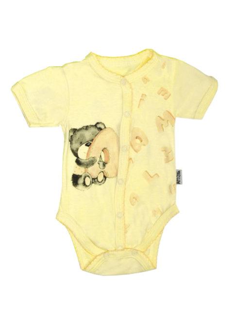 Боди для новорожденных Алфавит, желтый